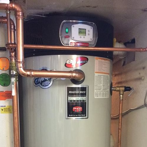 A Picture of a Bradford White Water Heater.